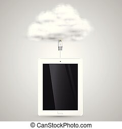 Tablet is connecting to cloud
