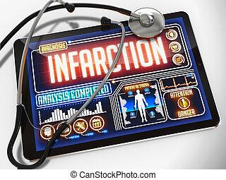 tablet., monde médical, exposer, infarctus