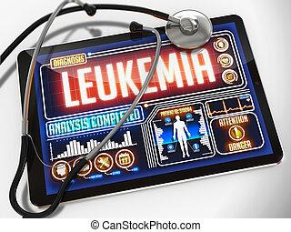 tablet., monde médical, leucémie, exposer