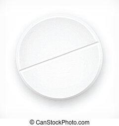 Tablet on white