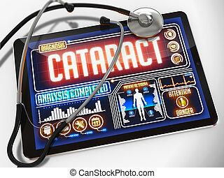 tablet., orvosi, bemutatás, vízesés