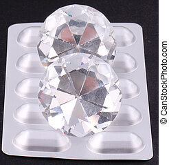 tablet packaging - Tablet packaging with diamonds