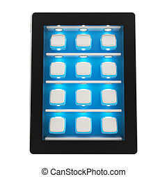 Tablet pad electronic device isolated
