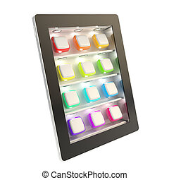 Tablet pad electronic device