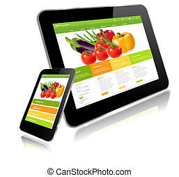 Tablet PC and Smart Phone - Tablet and Smart phone....