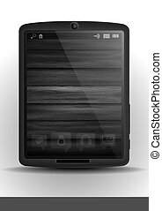 tablet pc, &, beweeglijk, telefoon.