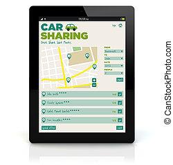 tablet pc car sharing