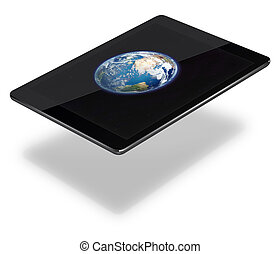Tablet pc computer isolated on white background.