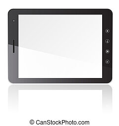 Tablet PC computer with blank screen horizontally