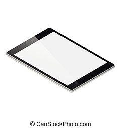 Tablet pc detailed isometric icon