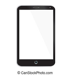 Tablet pc - Illustration of black tablet pc