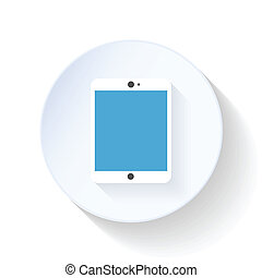 Tablet PC flat icon