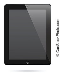 tablet pc - illustration of ipad 2. Realistic looking.