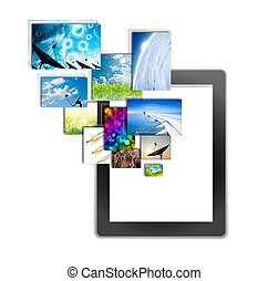 tablet pc, isolated on background white