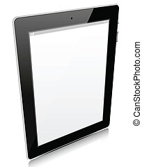 Tablet pc isolated on white