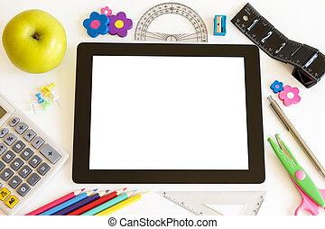 tablet pc, met, school, accesories