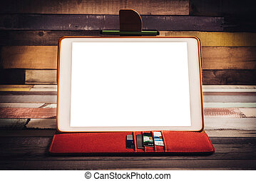 Tablet pc on the desk