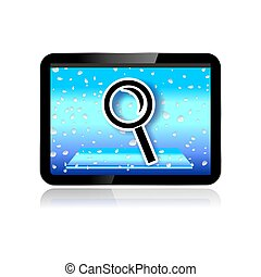tablet pc search icon