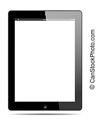 Tablet PC - Tablet pc with white screen,  vector format
