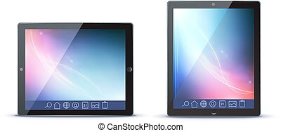 tablet PC - Vector illustration of classy tablet PC in...