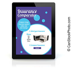 tablet pc, verzekering, comparator