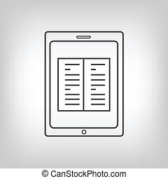 Tablet PC with book image