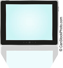 Tablet PC With bright blue screen