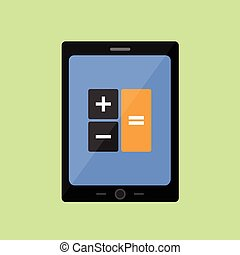 Tablet PC with calculator