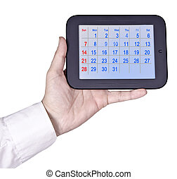 Tablet PC with calendar
