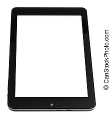 tablet pc with cut out screen isolated on white