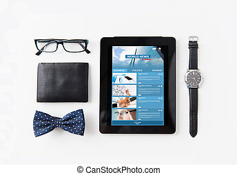 tablet pc with web applications and personal stuff