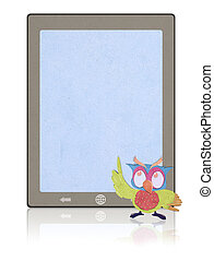 tablet  recycled paper craft stick