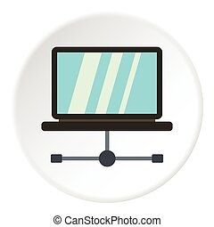 Tablet repair icon, flat style