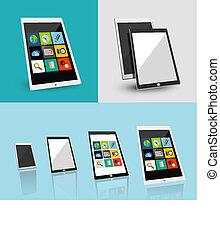 Tablet responsive flat ui design - 3d tablet responsive flat...