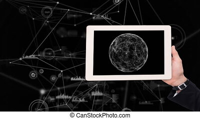 Tablet showing moon