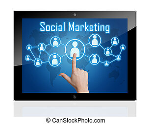 Tablet Social Marketing
