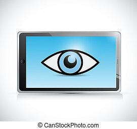 tablet surveillance illustration design
