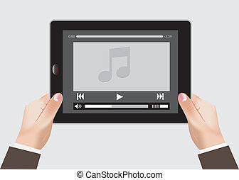 Tablet, touch pad - Vector illustration of tablet