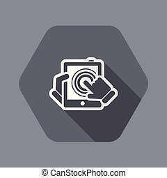 Tablet touchscreen - Flat and isolated vector illustration ...