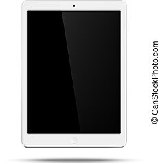 Tablet - Vector white tablet pc similar to ipad air style on...