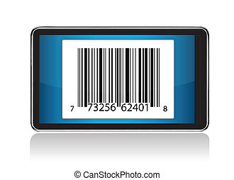 tablet with Barcode illustration