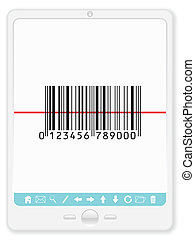 tablet with barcode