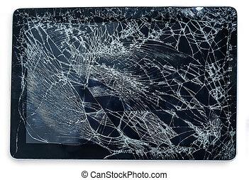 tablet with broken display