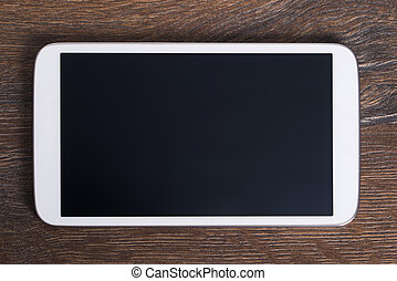 Tablet with empty screen