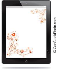 Tablet with floral design