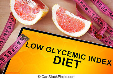 Tablet with low glycemic index diet