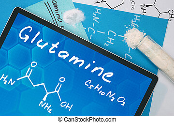 chemical formula of Glutamine - Tablet with the chemical ...