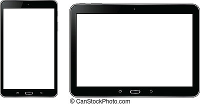 Tablet with white screen