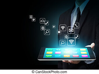 Tablet withapplication icons