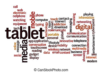 Tablet word cloud concept